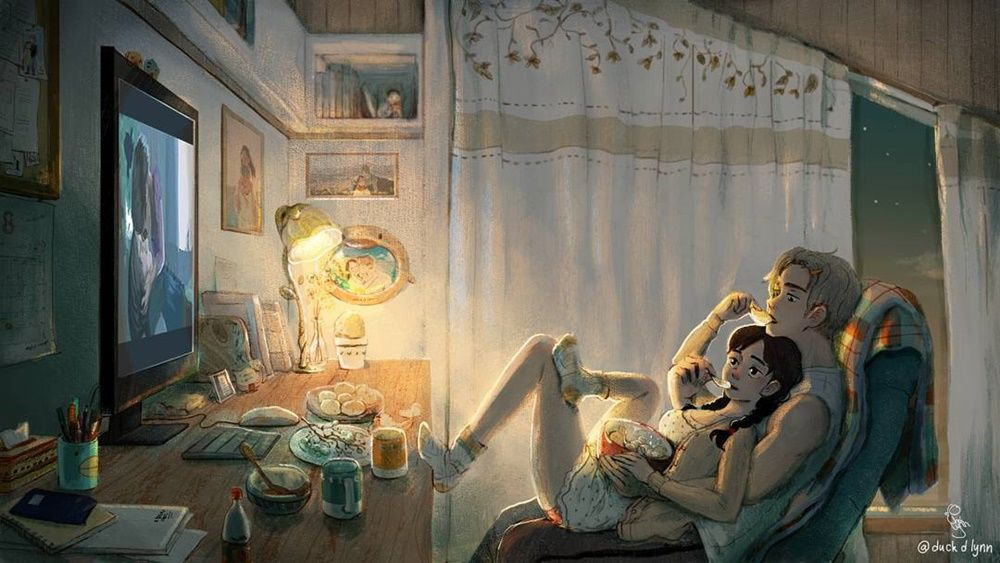 Intip Kehidupan Manis Pasangan di Korea Lewat 9 Ilustrasi Ini