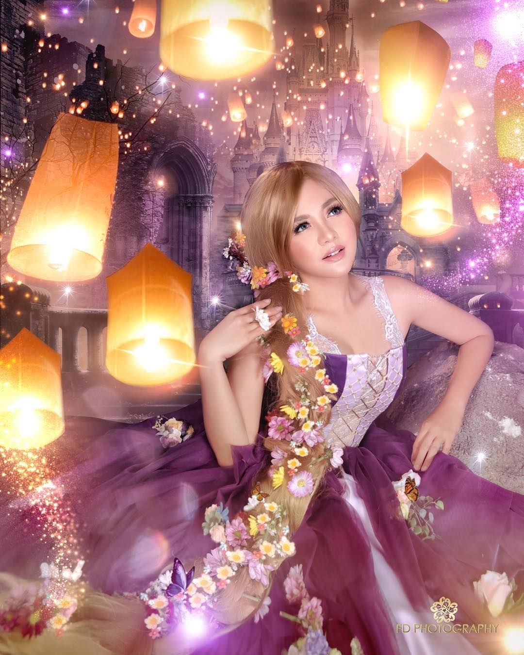 Cantiknya Aurel Hingga Marsha Aruan Jadi Princess Disney, Seperti Apa?