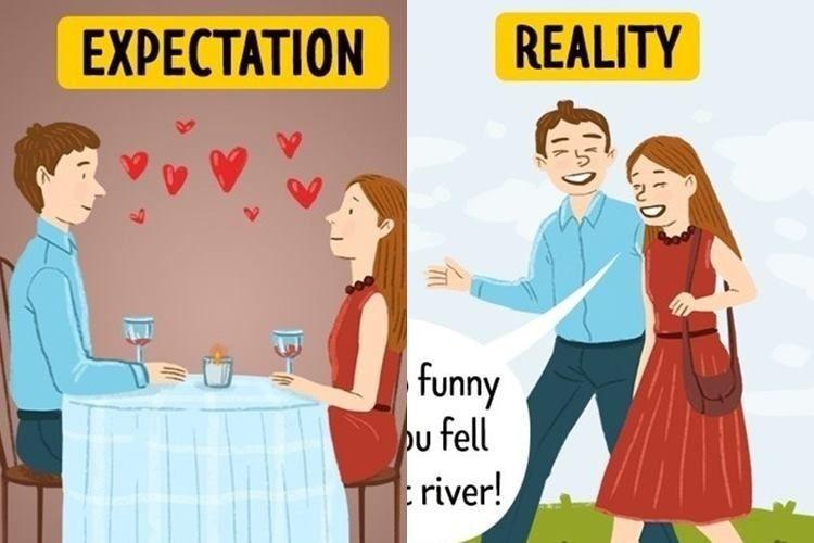 Ilustrasi tentang Ekspektasi dan Realitas dalam Hubungan yang Bahagia