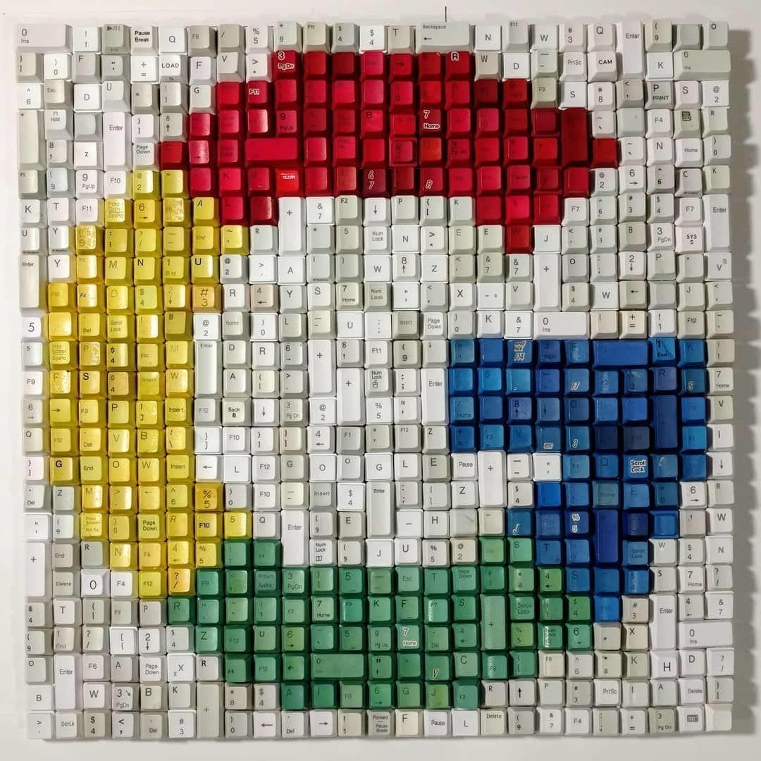 Manfaatkan Sampah, 9 Lukisan Ini Dibuat dari Keyboard Bekas