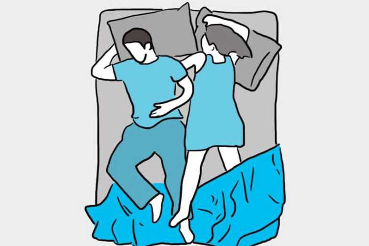 Bukan Mitos, Posisi Tidur dengan Pasangan Membuktikan Cinta Kalian