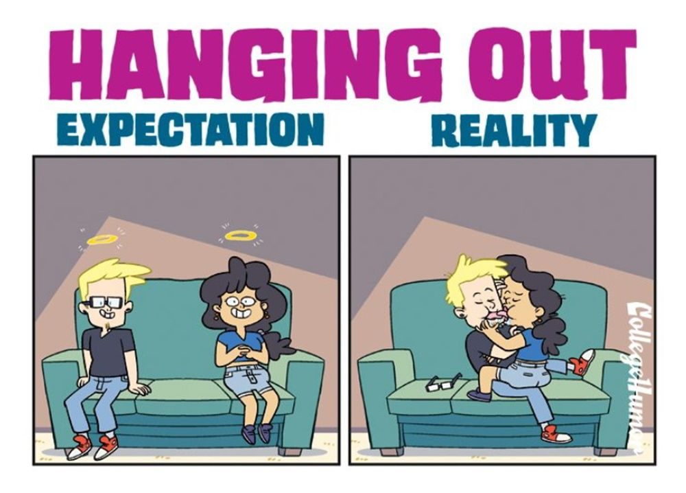 5 Ilustrasi Lucu Ekspektasi vs Realitas Saat Berteman dengan Mantan
