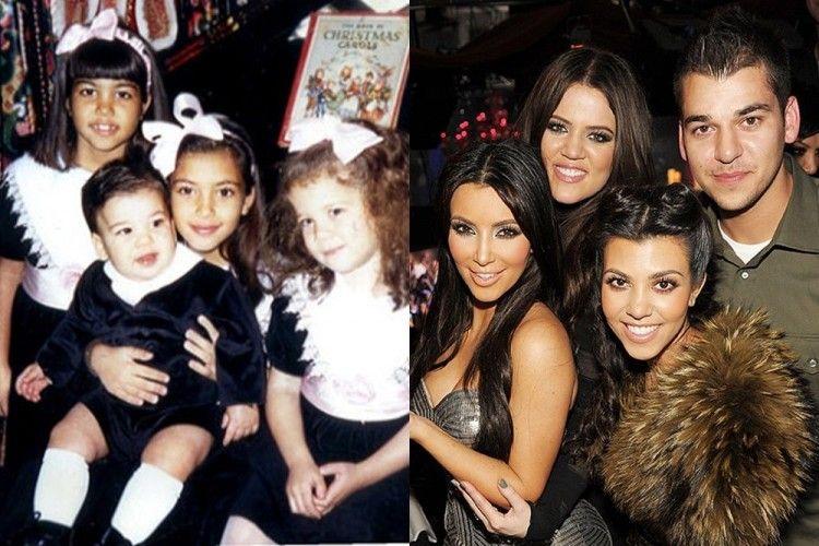 Dari Imut Sampai Jadi Sosialita, Ini Transformasi Keluarga Kardashian