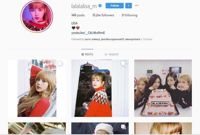 Naik Daun, Lisa BLACKPINK Jadi Artis K-Pop Paling Banyak Followers