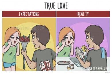 10 Ilustrasi Lucu tentang Ekspektasi vs Realitas Setelah Menikah