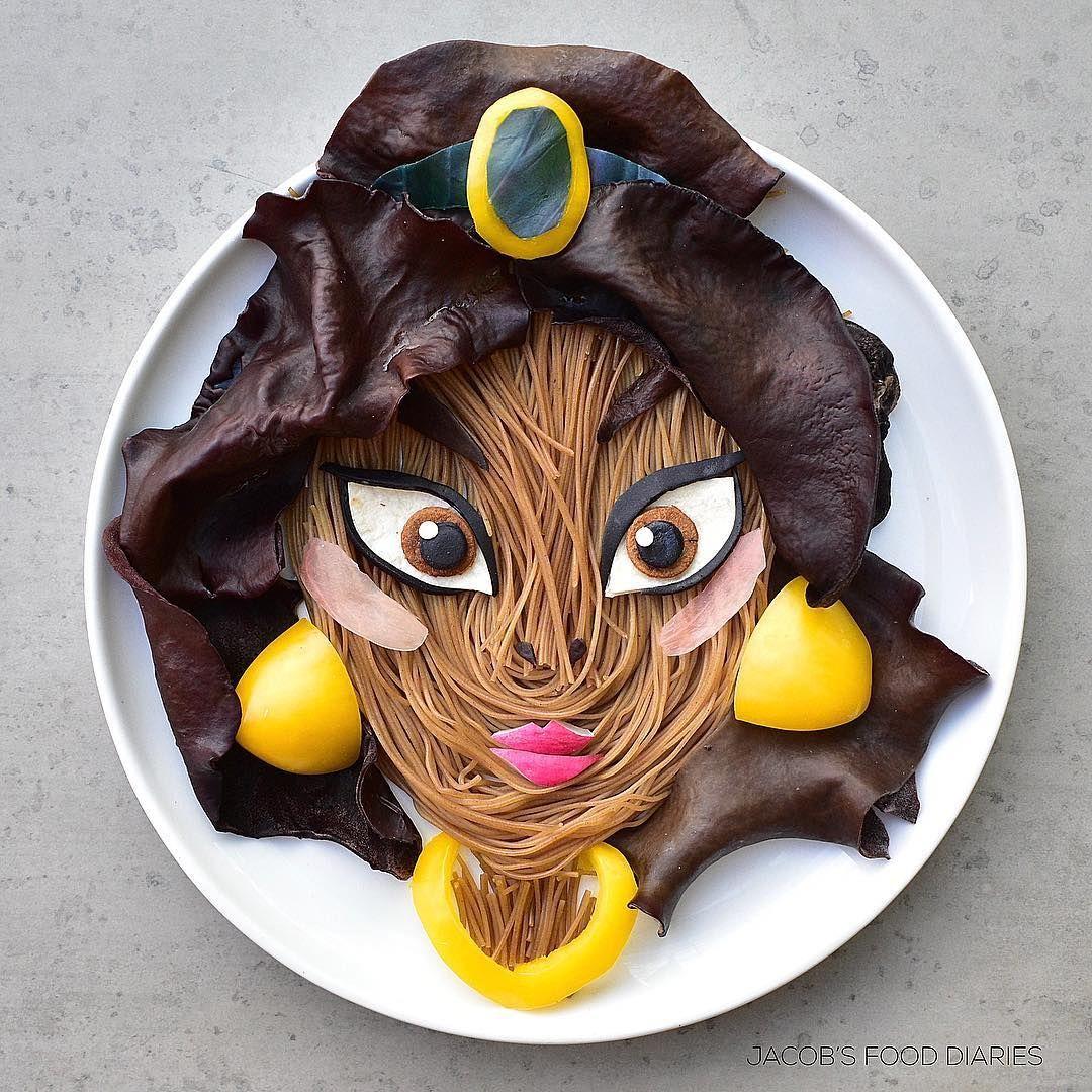 Yummy! Pria Ini Buat Lukisan 7 Tokoh Disney dari Bahan Makanan