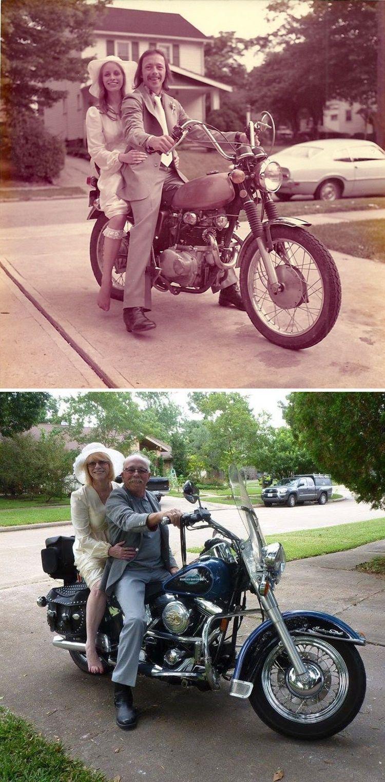 11 Foto Pasangan Dulu vs Sekarang, Bukti Cinta Sejati Itu Nyata