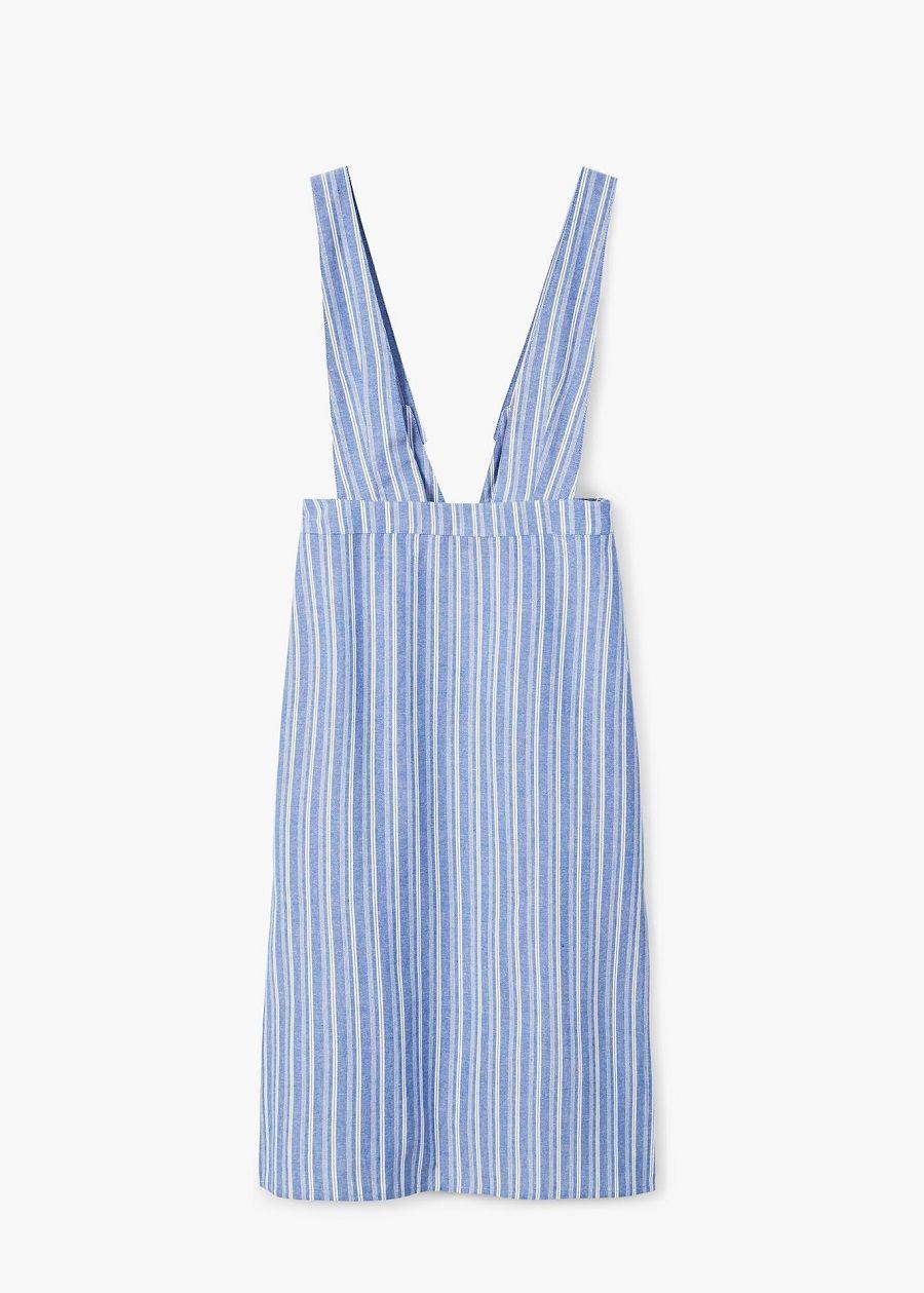 Trendi dengan Dress Motif Garis-garis