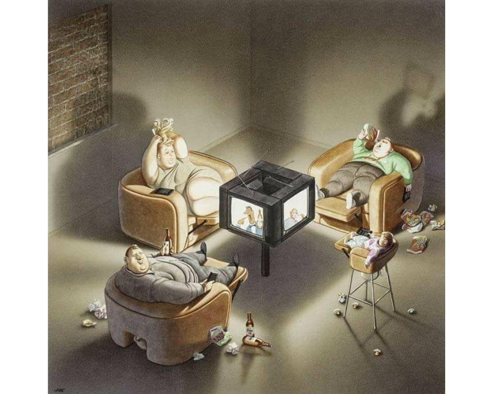 8 Ilustrasi Ini Sindir Gaya Hidup Manusia yang Kian Individualistis