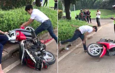 Motor Dirusak Pacar Saat Ditilang, Yunie Naik Grab Gratis Sebulan
