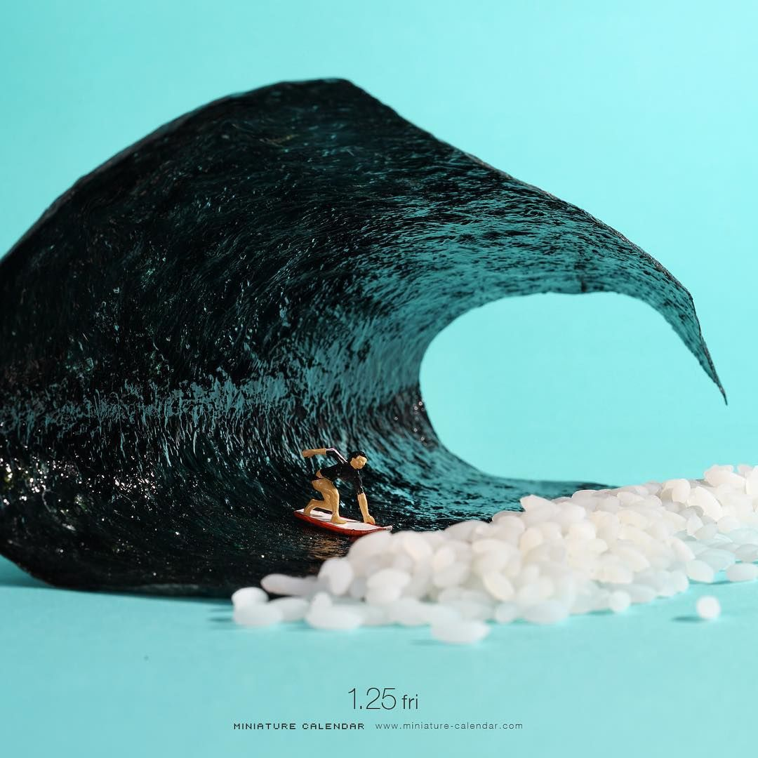 Gemas! 10 Karya Seni Diorama Ini Terbuat dari Makanan
