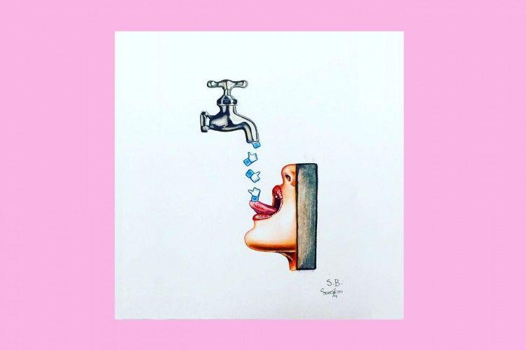 Ilustrator Ini Kritisi Pengaruh Media Sosial Terhadap Kesehatan Mental
