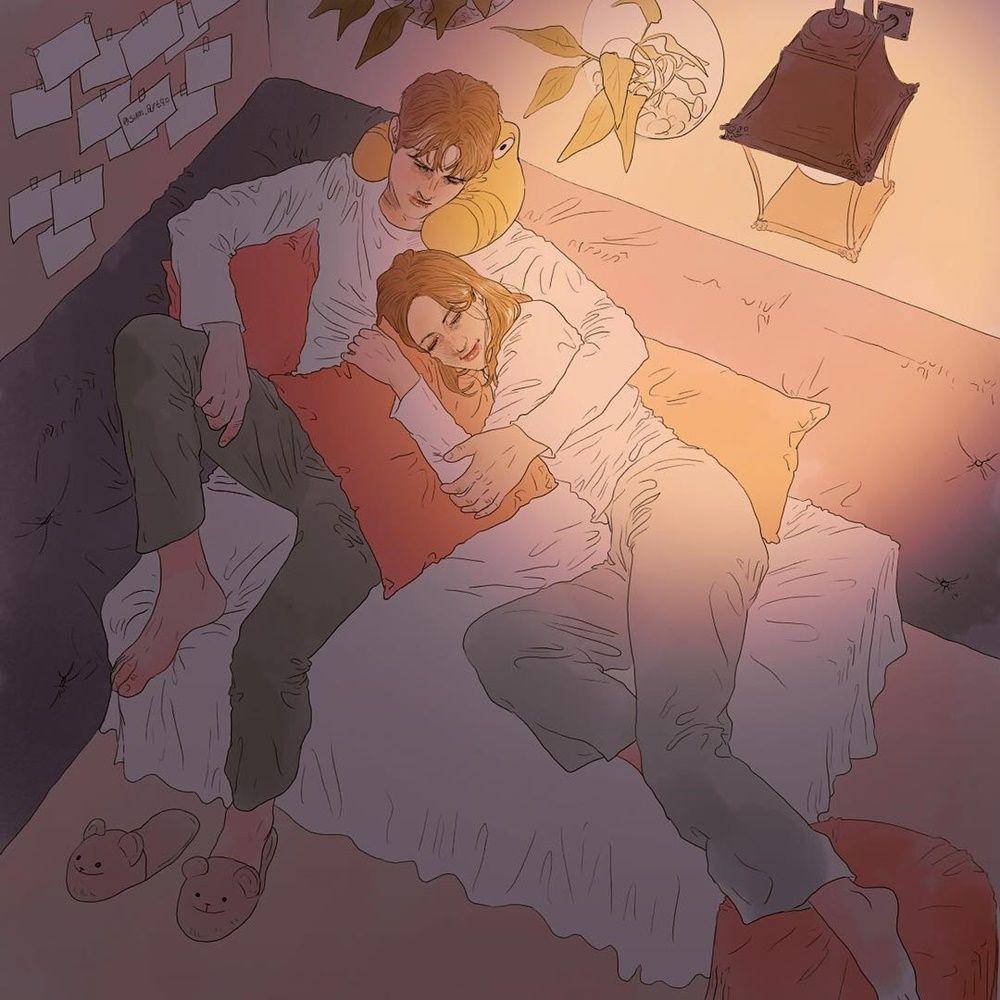 9 Ilustrasi Romantis Tentang Lika Liku Percintaan Mirip Drama Korea