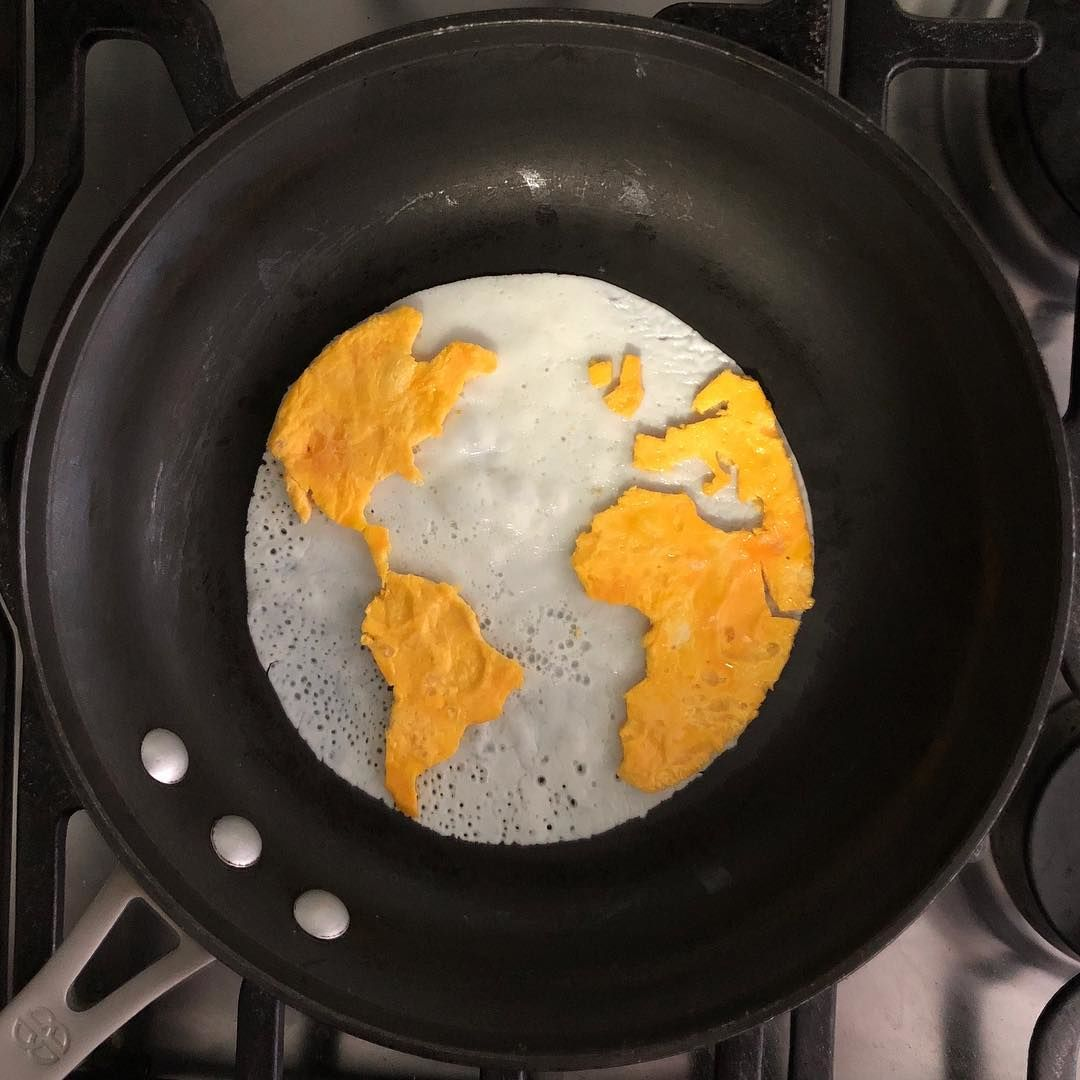 Gemas! 10 Gambar Ini Terbuat dari Telur Ceplok