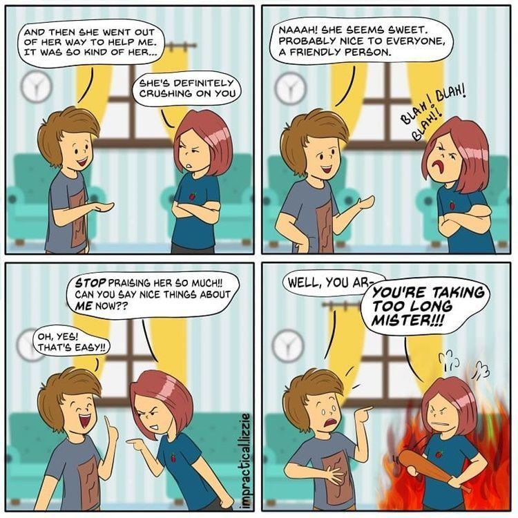 9 Komik Strip tentang Pertengkaran Lucu Ini Bikin Kamu Kangen Pacar