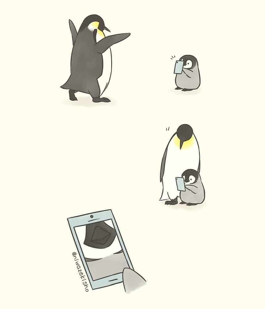 8 Ilustrasi Pinguin Ini Gambarkan Hal Canggung yang Sering Kamu Alami