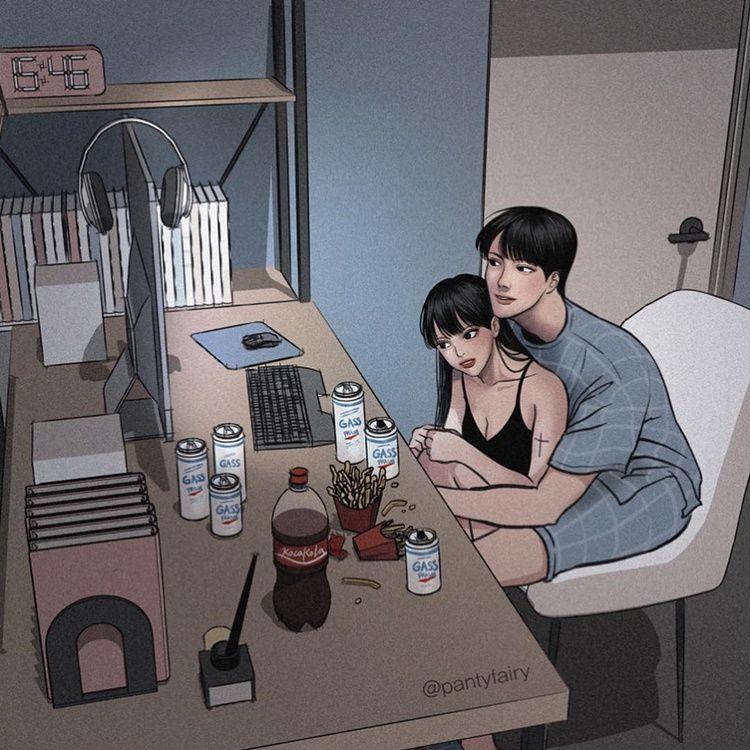 Bikin Gemas, 10 Ilustrasi Ini Ungkap Rasanya Punya Pasangan yang Jahil