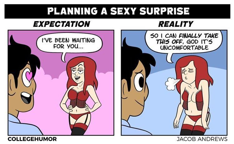 5 Ilustrasi Lucu Ekspektasi vs Realitas Saat Bulan Madu