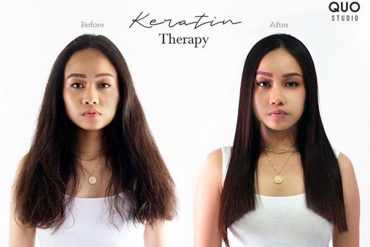 Keratin Therapy Sulap Rambut Mengembang Jadi Lurus Tanpa Catokan