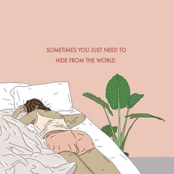 14 Ilustrasi Ini Mengajakmu untuk Lebih Mencintai Diri Sendiri