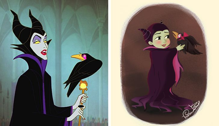 Ketika 6 Karakter Disney yang Seram Disulap Jadi Lebih Menggemaskan