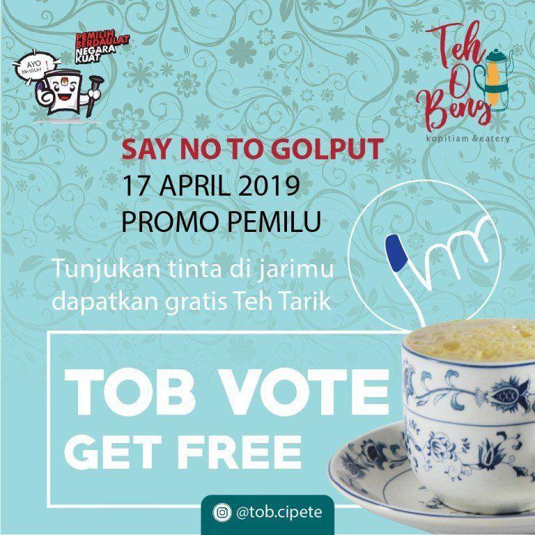 56 Tenant yang Kasih Kamu Diskon di Hari Pemilu 2019