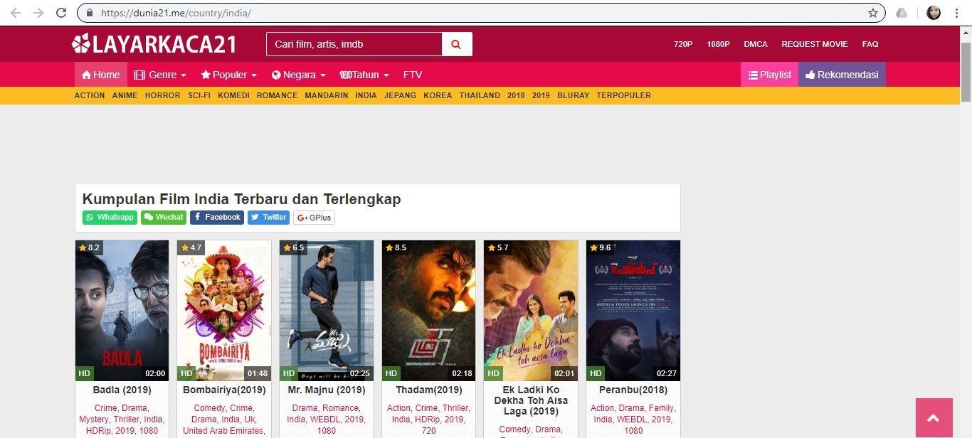 Deretan Situs Nonton Film India Sub Indo