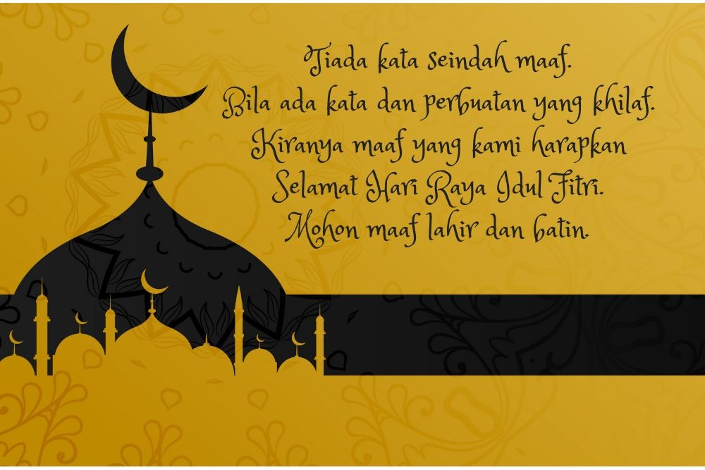 10 Gambar Ucapan Selamat Hari Raya Idul Fitri Menyentuh