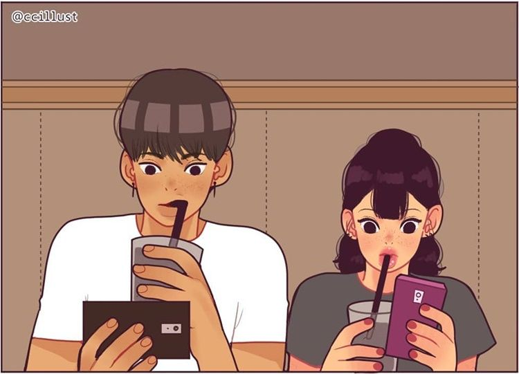 Gemas! 10 Ilustrasi Lucu Rasanya Punya Pacar Jahil di Sekolah