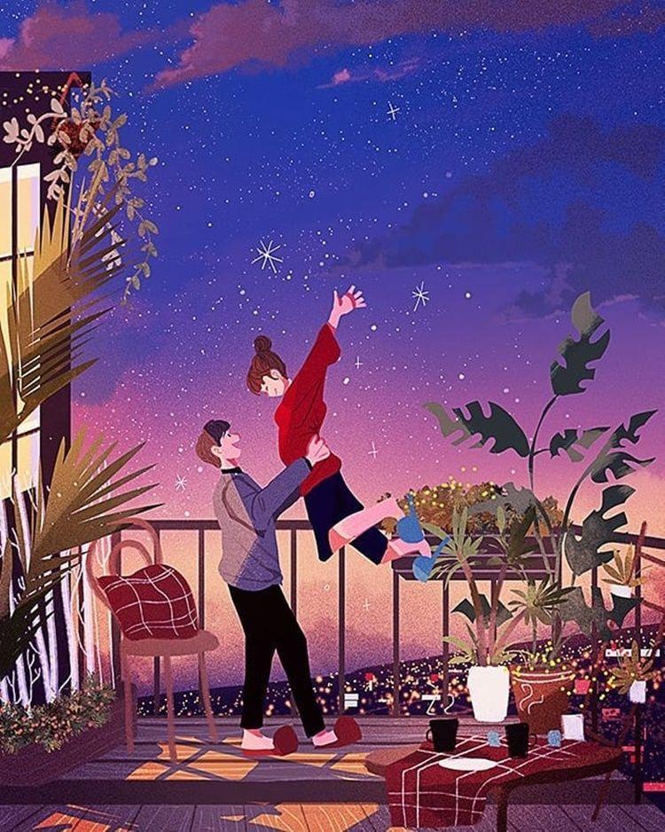 So Sweet! 9 Ilustrasi yang Romantis Seperti di Negeri Dongeng