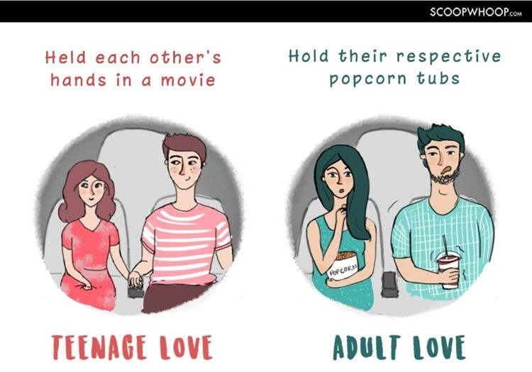 7 Ilustrasi Lucu Perbedaan Gaya Pacaran Remaja dan Orang Dewasa