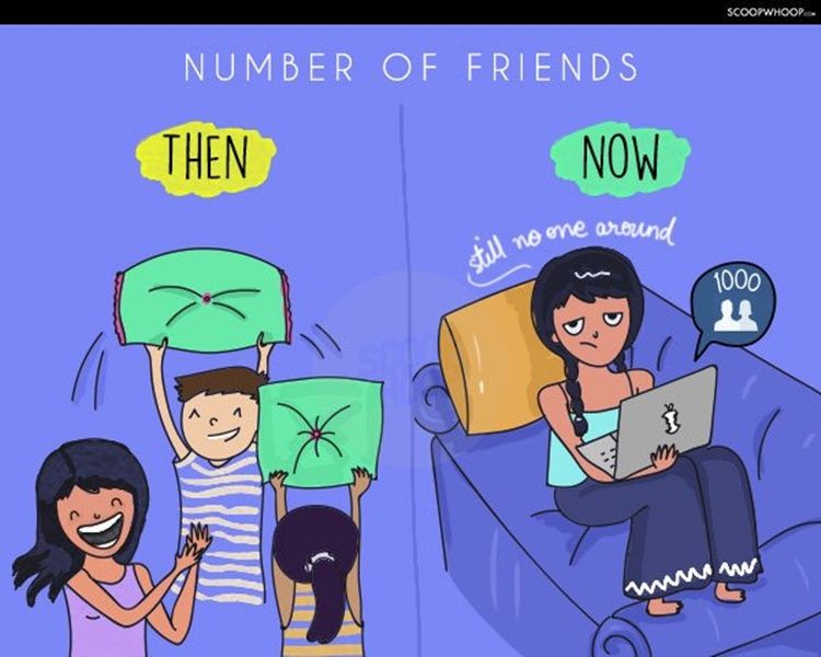 10 Ilustrasi Lucu Bedanya Persahabatan di Masa Lalu dan Sekarang