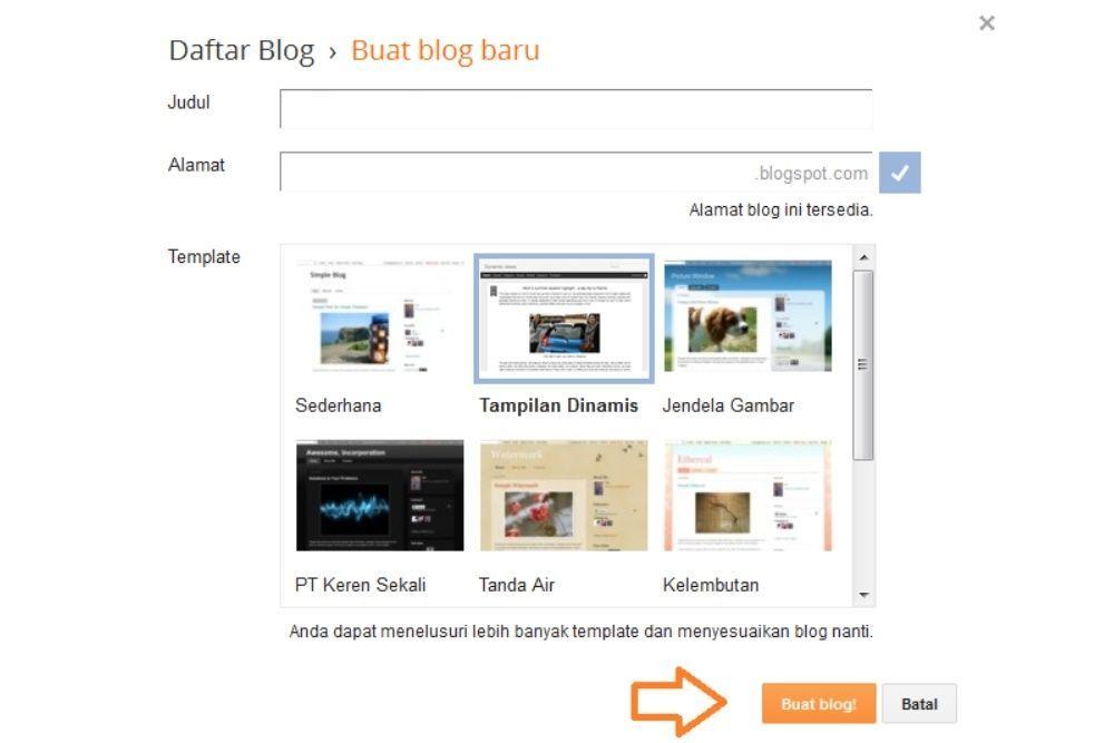 Cara Membuat Blog Pribadi di Blogger Gratis