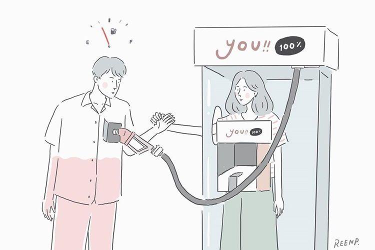 10 Ilustrasi Manisnya Masa Pacaran yang Bikin Kamu Kangen Si Dia