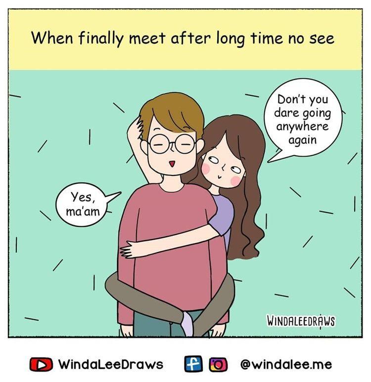 Gemas! 10 Ilustrasi Lucu tentang Manjanya Perempuan pada Pasangan