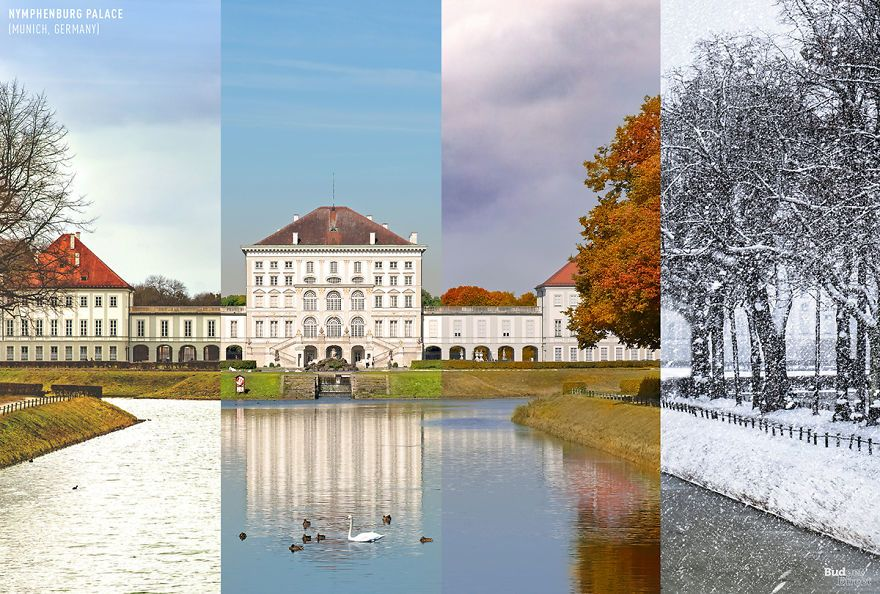 Potret Perbedaan Destinasi yang Sama di Empat Musim