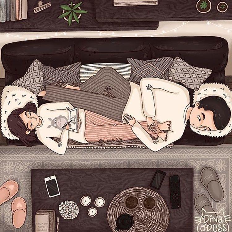 15 Ilustrasi Rasanya Punya Suami Cuek, Gemas Tapi Sayang!