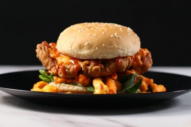 Resep Membuat Chicken Burger Cheetos