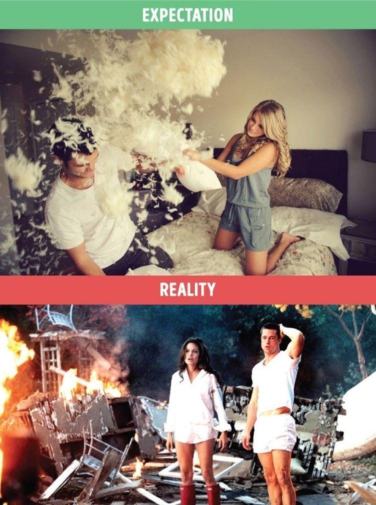 Miris, Perbandingan Foto Antara Ekspektasi dan Realitas dalam Hubungan