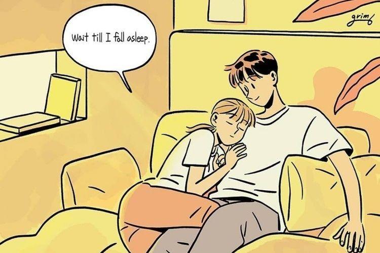 15 Ilustrasi Manis Rasanya Punya Suami Perhatian dan Romantis