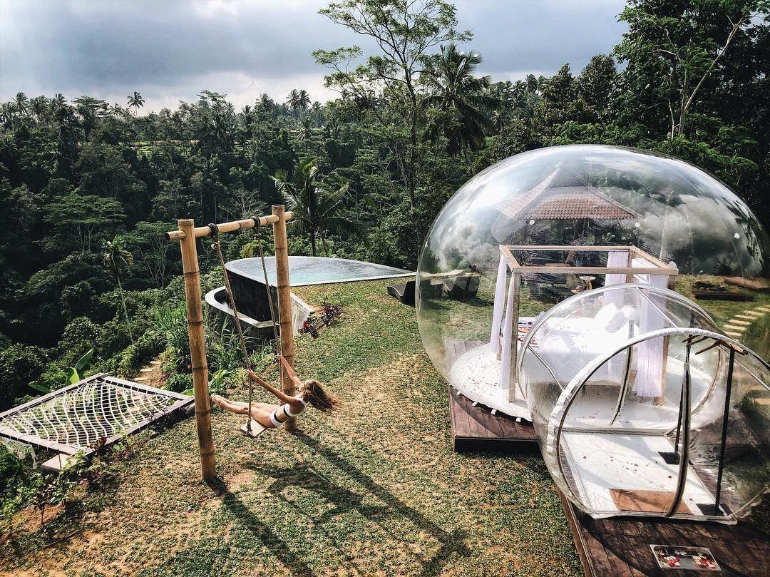 Serasa Menyatu dengan Alam, Inilah Potret Bubble Hotel di Bali