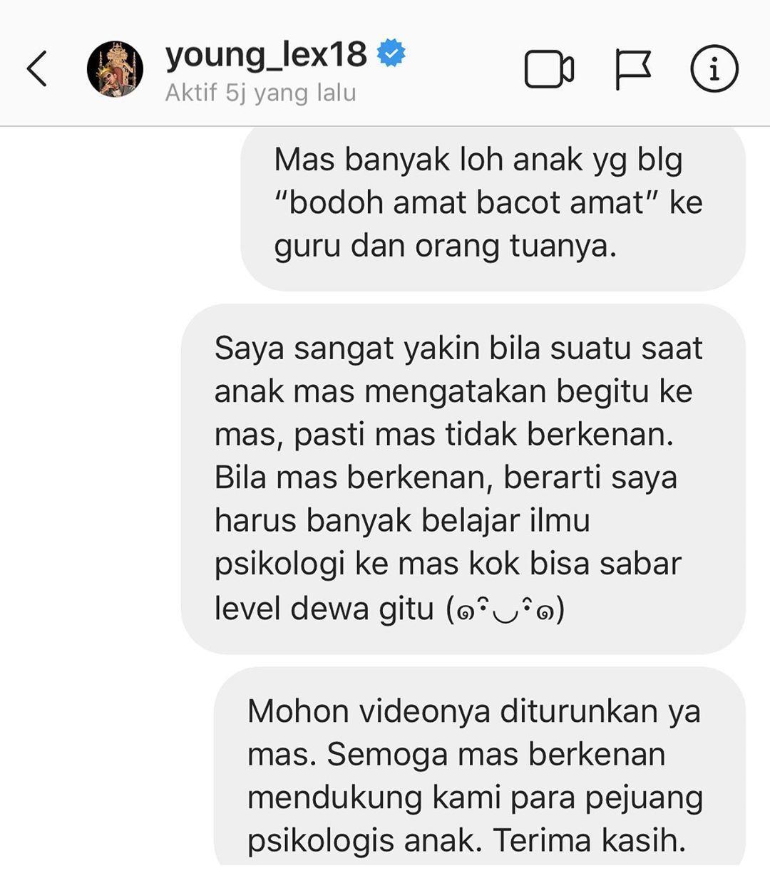 Lagunya Dianggap Toxic, Young Lex Dilaporkan ke Kominfo
