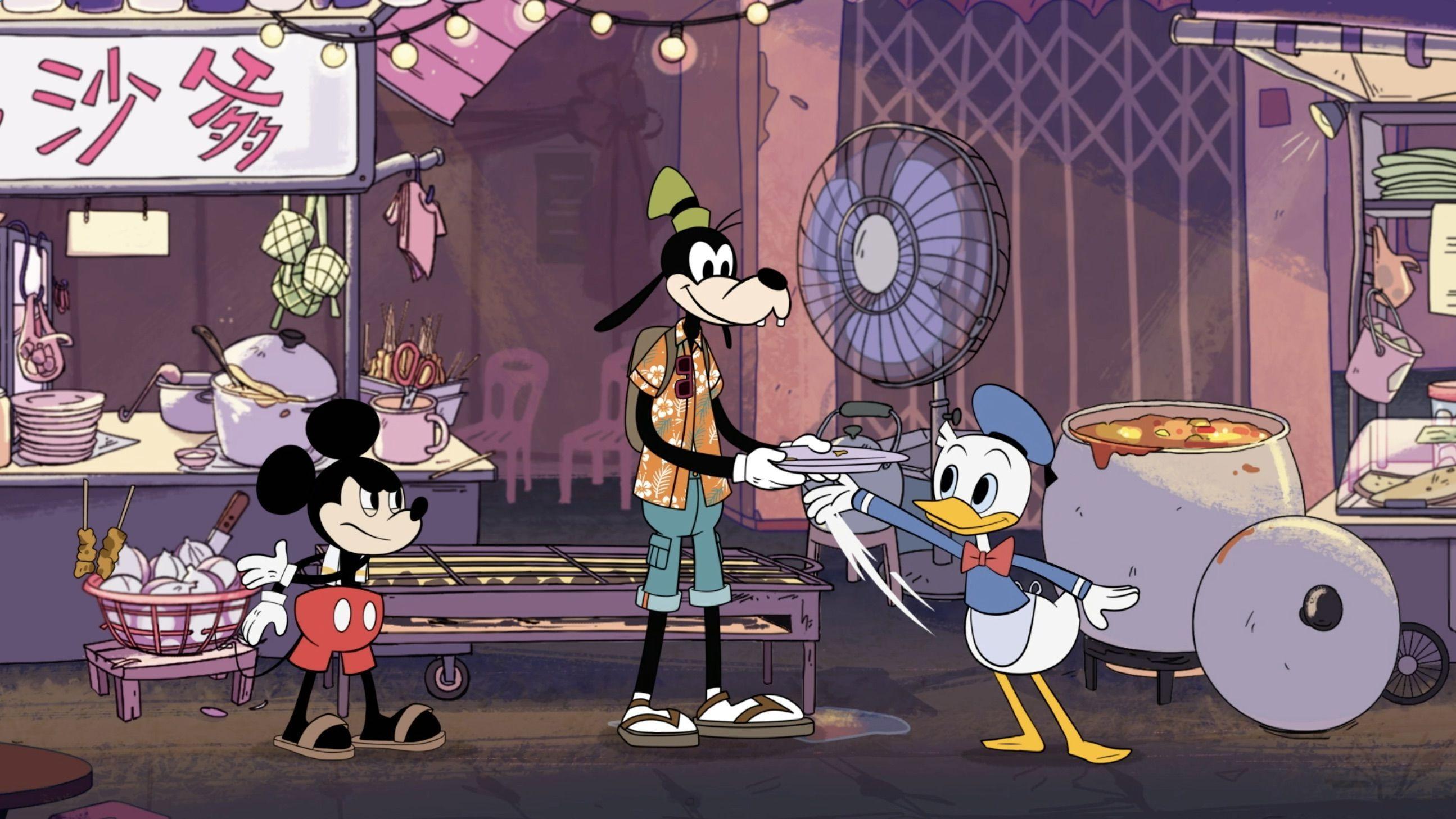 8 Potret Mickey Mouse & Friends Saat Memasak Kuliner Melayu
