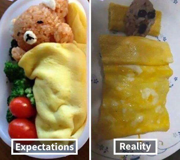 Ekspektasi Vs Realita, Makanan Buatan Sendiri Nggak 'Kece' Kayak di IG
