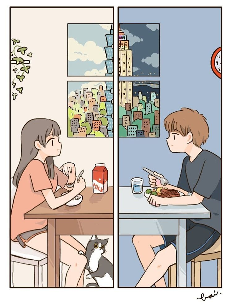 10 Ilustrasi Lucu Rasanya Punya Pacar Jahil Tapi Romantis