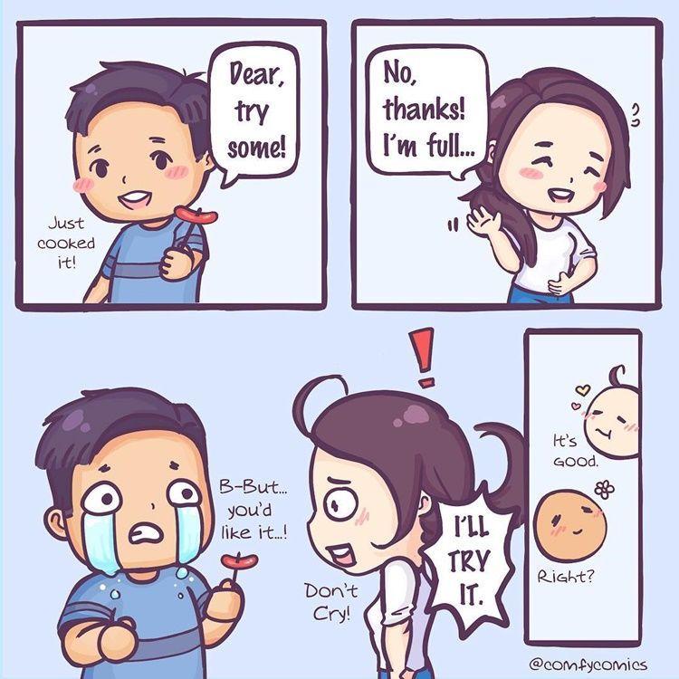 Kocak! Intip 9 Komik Strip Gemasnya Kehidupan Setelah Menikah