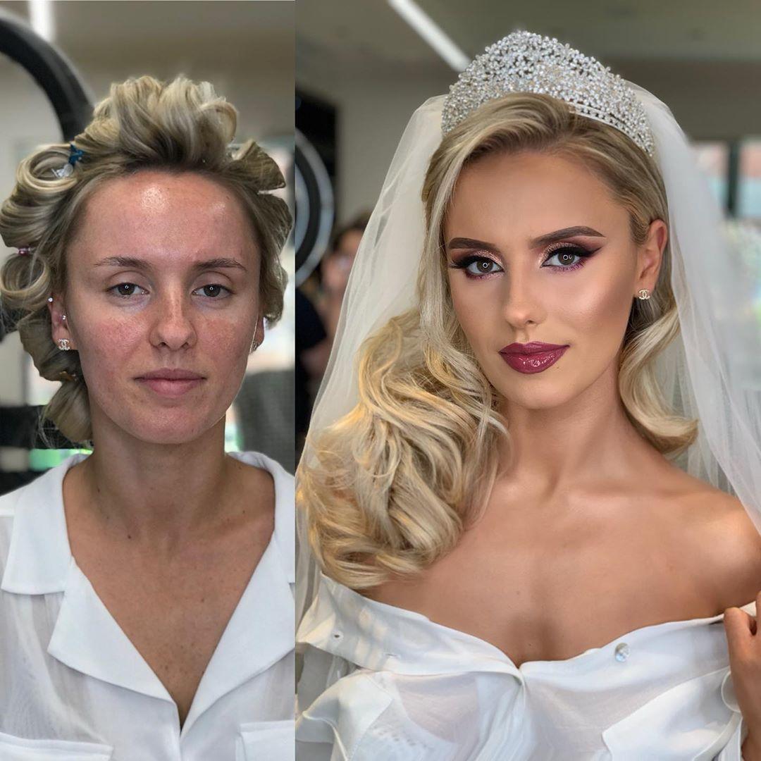 73d359b899fe5ca7afa4617f6bf48fb9 - 11 Foto Perbandingan Para Pengantin Setelah Dirias dengan Makeup Bold
