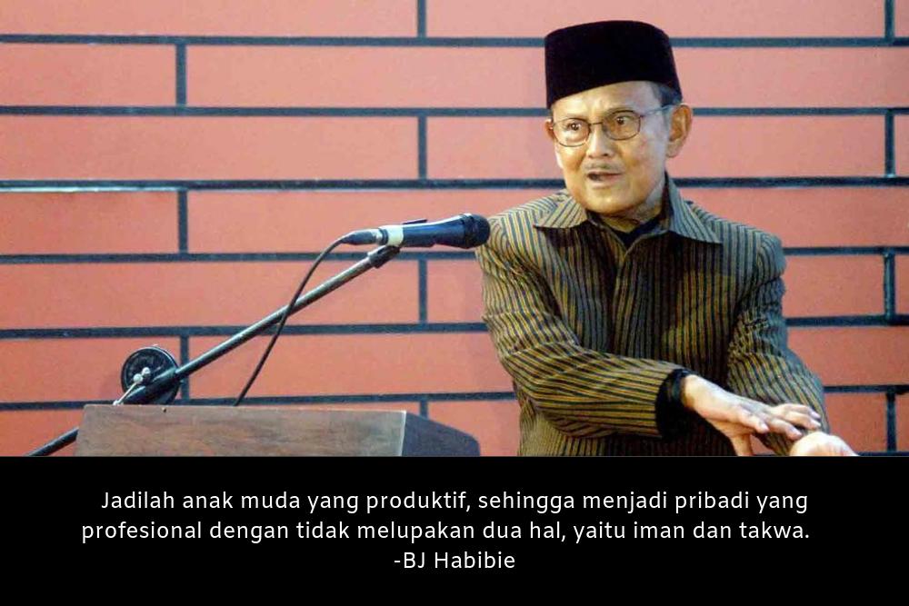 10 Kata-Kata BJ Habibie yang Menginspirasi