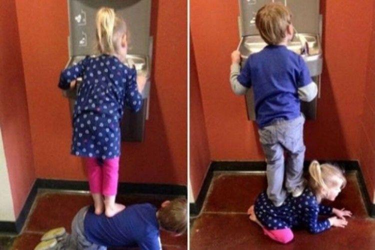 7 Foto Ini Tunjukkan Kelakuan Kocak Kakak Adik yang Bikin Tertawa
