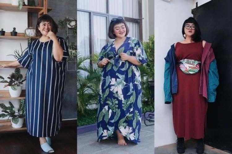 7 Long Dress Body Curvy ala Tira Emon, Elegan Banget Nih!
